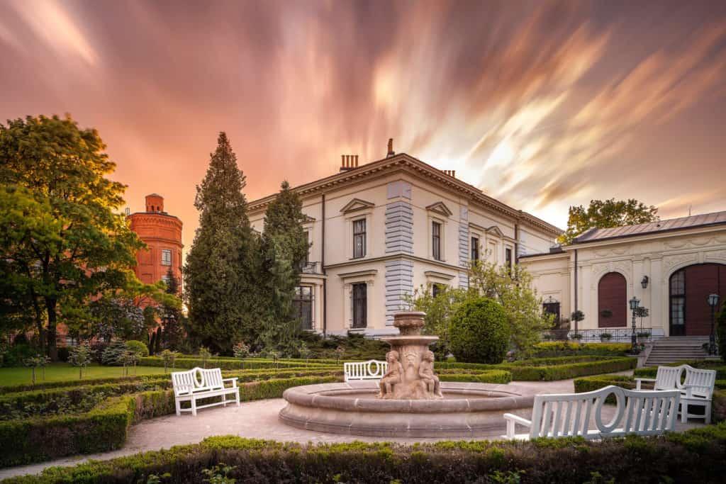 Ogród iPałac Herbsta naKsiężym Młynie