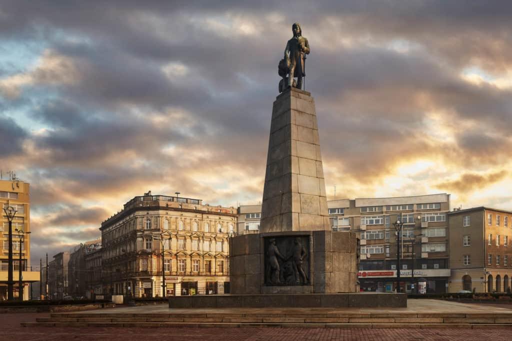 Plac Wolności - Pomnik Tadeusza Kościuszki