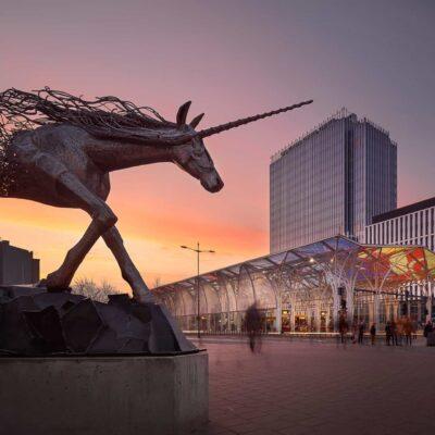 Pomnik Jednorożca - Przystanek Centrum