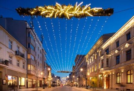 Świąteczna ulica Piotrkowska