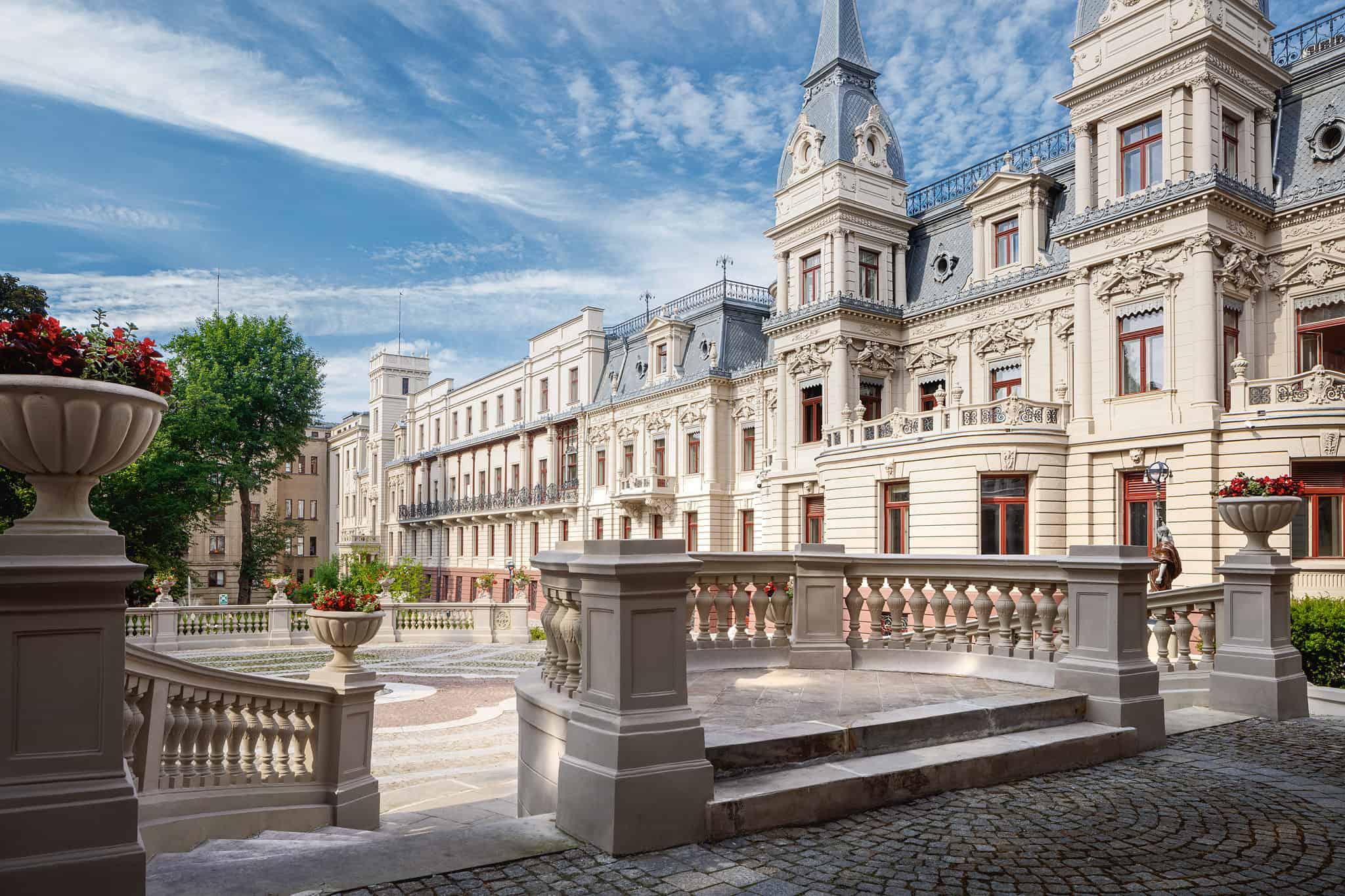 Pałac Poznańskich od strony ogrodu - Muzeum Miasta łodzi